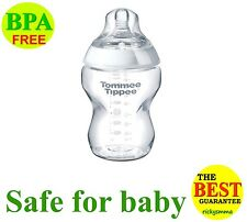 Tommee Tippee Closer To Nature 0M+ GLASS Feeding Bottle 150ml 5 Ounce 5oz