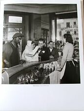"Robert Doisneau Poster Black and White Cafe ""Joinville-le-Pont 1948 14x11"