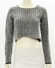 Rag & Bone Grey Mohair Knit Cropped Sweater Size Small