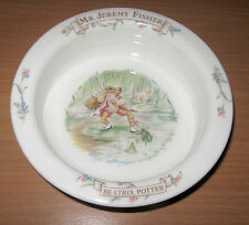 "Beatrix Potter Royal Albert Mr. Jeremy Fisher Frog 4"" Rimmed Bowl Porringer"