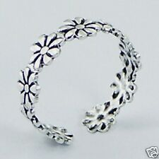Silver Daisy Flower Toe Ring Sterling Silver 925 Best Price Adjustable Jewelry