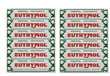 Euthymol Original Traditional Toothpaste 75ml x 12 Tubes - UK Seller