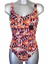 New Orange Reds Swimsuit UK 8 Ladies Bathing Suit Swimming Costume No Padding
