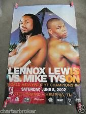 Original LENNOX LEWIS VS MIKE TYSON THE PYRAMID, MEMPHIS 2002 on site poster