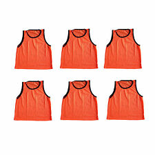 6 ADULT ORANGE Jersey practice uniform pinnie pennie lacrosse field hockey