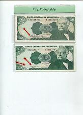 WORLD BANK NOTE - VENEZUELA 20VB WITH DIFF. GOVERNORS SGN UNC/GEF  # B105