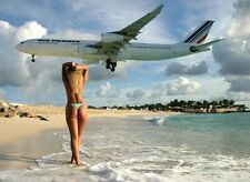 Concorde Air France Landing Once at St.Maarten/St.Martin Images 5 Kodak Prints*