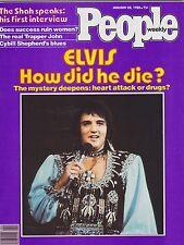JAN 28 1980 PEOPLE magazine (UNREAD - NO LABEL) - ELVIS - HOW DID HE DIE?