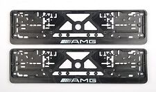 2x MERCEDES-BENZ AMG EXCLUSIVE EUROPEAN LICENSE NUMBER PLATE SURROUNDS HOLDERS