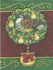 Lang Tip On Christmas Cards, Box Of 16, Partridge In A Pear Tree S. Winget (126)