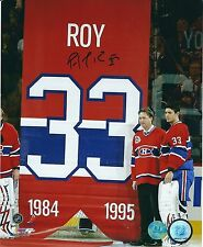Autographed PATRICK ROY Montreal Canadiens 8x10 photo - COA
