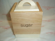 T& G Woodware Tone2 Collection Sugar Canister BNIB