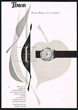 1950's Vintage 1957 Timor Watch Co Mid Century Modern Modernist Art Print AD