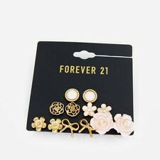 New Forever21 6pairs Flower Bow Stud Earrings Gift FS Sweet Girl's Jewelry set