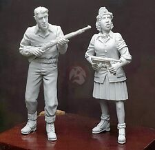 Djiti's 1/35 Man and Woman French Resistance Fighters FFI WWII (2 Figures) 35068