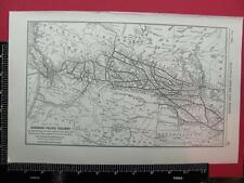94 YEAR OLD 1922 CANADIAN PACIFIC RAILROAD WESTERN SYSTEM MAP CP DEPOT LOCATIONS