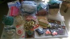 Grab Bag Craft Closet 2 Large Bags Assorted Sewing, Crafting Crepe Much More   E