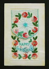 WW1 Silk Postcard Xmas Southedge Close House Hipperholme Halifax Yorkshire HX3