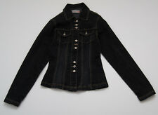 WOMENS DIESEL INDUSTRY DENIM JACKET BLACK FITTED SIZE XS XSMALL EXCELLENT