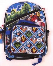 Original Marvel Comics Super Heroes Kids Boys Backpack With Detachable Lunch Box