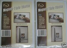 "Set of 4 Regent Magnetic 4""x6"" Photo Sleeves Insert Picture Reusable Holder"