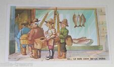 Ancienne Carte Postale FANTAISIE Pécheurs : Ici... Le bon coin où ça mord.