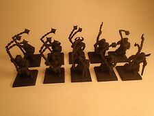 Warhammer Fantasy Warriors of Chaos AoS KoW Marauders Primed Black Flails