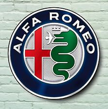 ALFA ROMEO LOGO 2FT LARGE GARAGE SIGN WALL PLAQUE CLASSIC CAR SPIDER 155 GIULIA