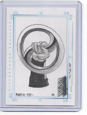 Xena Art And Images Sketch Card by Steven Miller Chakram Held from Below