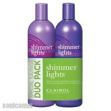Clairol Shimmer Lights Blonde & Silver Shampoo + Conditioner 16 oz Combo Pack