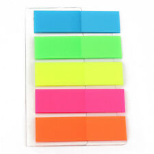 2X Creative Sticky Adhesive Post Highlighter Index Tab Flags Neon Page Marker