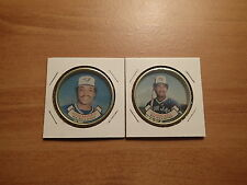1987 Topps Baseball-COINS-Montreal Expos-JESSE BARFIELD, GEORGE BELL-NearMint