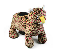 Leopard Animal Scooter, Plush Mall Ride On Coin Operated Electric FREE SHIPPING