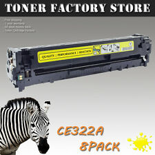 8PK CE322A 128A Yellow Toner For HP Color LaserJet Pro CM1415 CM1415fn CM1415fnw