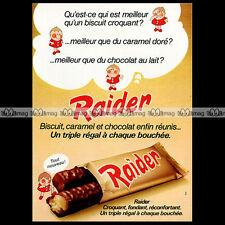 RAIDER 1974 Chocolate Candy Bar Biscuits (Ex-French TWIX) Pub Publicité Ad #A682
