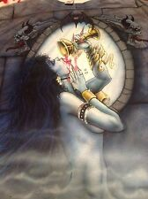 Airbrushed Vampire one of a kind t-shirt XL mens 2 sided original Artwork