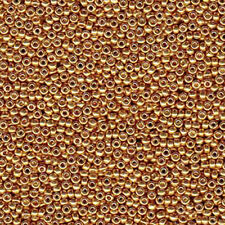 Duracoat Galvanized Yellow Gold Miyuki 11/0 rocailles glass seed beads 24 grams