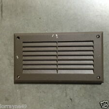 Step Light Cover Face-plate Dark Bronze  8-7/8X5 inch LOUVER AND GLASS S713C-BR