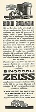 W2194 Binoccoli grandangolari ZEISS - Pubblicità del 1931 - Old advertising
