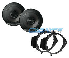 "NEW PIONEER 6.5"" 2 WAY CAR STEREO SPEAKERS W/ DOOR MOUNTING INSTALL BRACKETS"