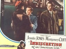 """Montgomery Clift * Jennifer Jones in """"Indiscretion of An American Wife""""  1954"""