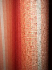 Vintage cotton linen southwest colors huge striped fabric drape curtain panels!