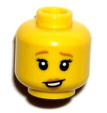 LEGO BABYSITTER HEAD Female Dark Orange Lips, Raised Eyebrows Lopsided Smile NEW