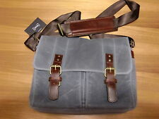 ONA Prince Street Camera Messenger Bag in Smoke Canvas NWT