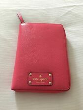 NWT KATE SPADE WELLESLEY PINK ZIP AROUND ORGANIZER PLANNER AGENDA 2016 Inserts