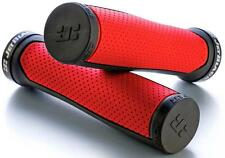 JetBlack Clutch MTB Handlebar Grips Bike Grip Jet Black RED/BLACK