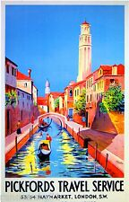 Pickfords Travel Service To Venice Italy Vintage Travel Advertisement Poster
