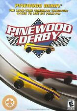 NEW SEALED Pinewood Derby PC Video Game race create sanding painting cars decals