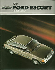CATALOGUE PUBLICITAIRE FORD ESCORT  1982 - USA