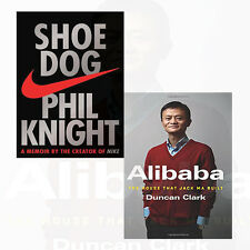 Phil Knight and Duncan Clark Collection 2 Books Set Shoe Dog,Alibaba NEW BRAND